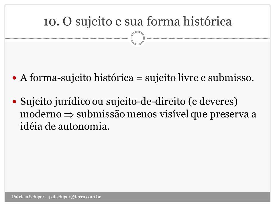 10. O sujeito e sua forma histórica