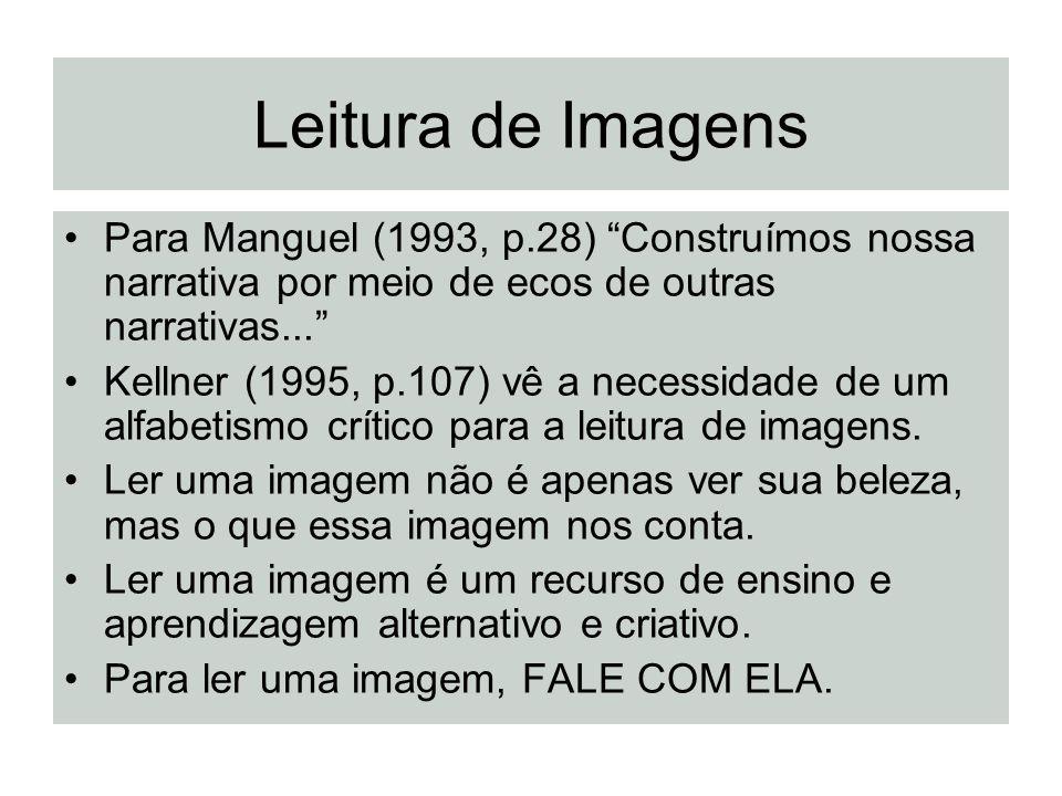 Leitura de Imagens Para Manguel (1993, p.28) Construímos nossa narrativa por meio de ecos de outras narrativas...