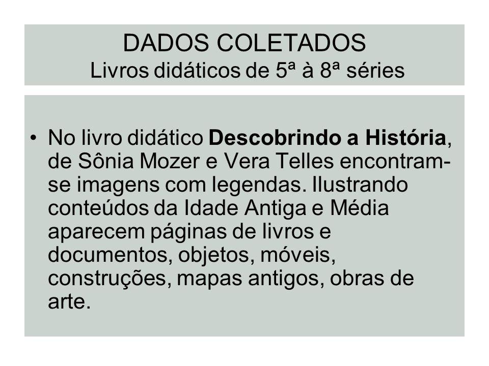 DADOS COLETADOS Livros didáticos de 5ª à 8ª séries