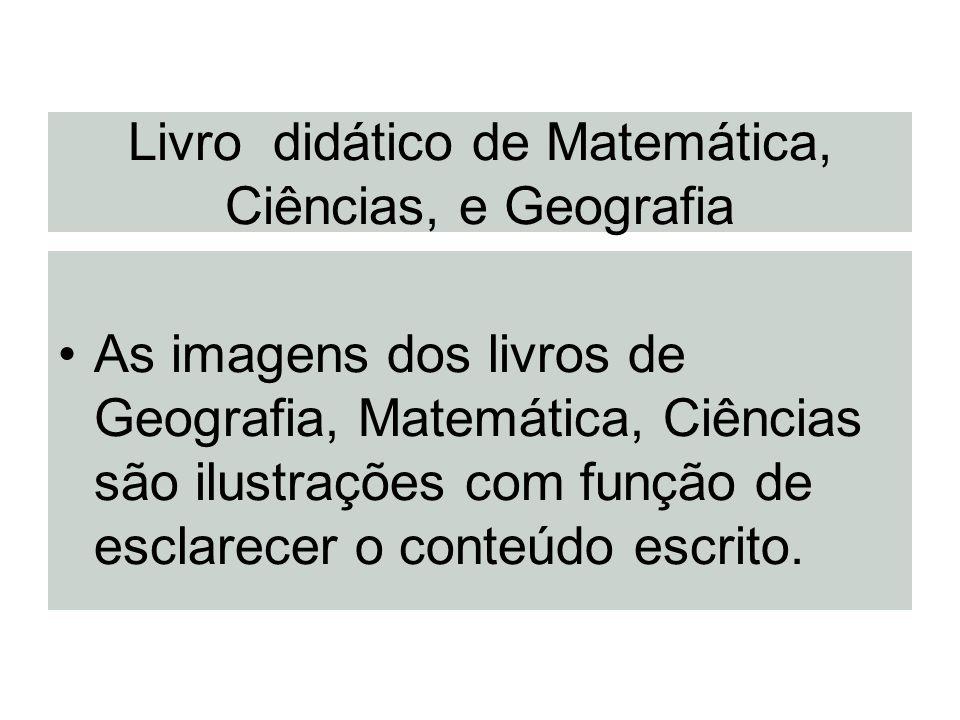 Livro didático de Matemática, Ciências, e Geografia