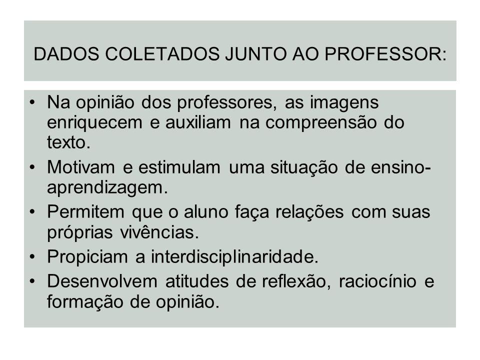 DADOS COLETADOS JUNTO AO PROFESSOR: