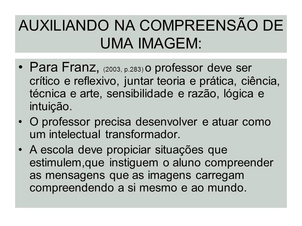 AUXILIANDO NA COMPREENSÃO DE UMA IMAGEM: