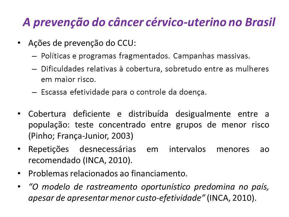 A prevenção do câncer cérvico-uterino no Brasil