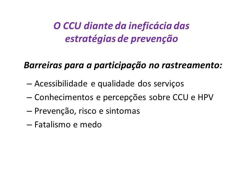 O CCU diante da ineficácia das estratégias de prevenção