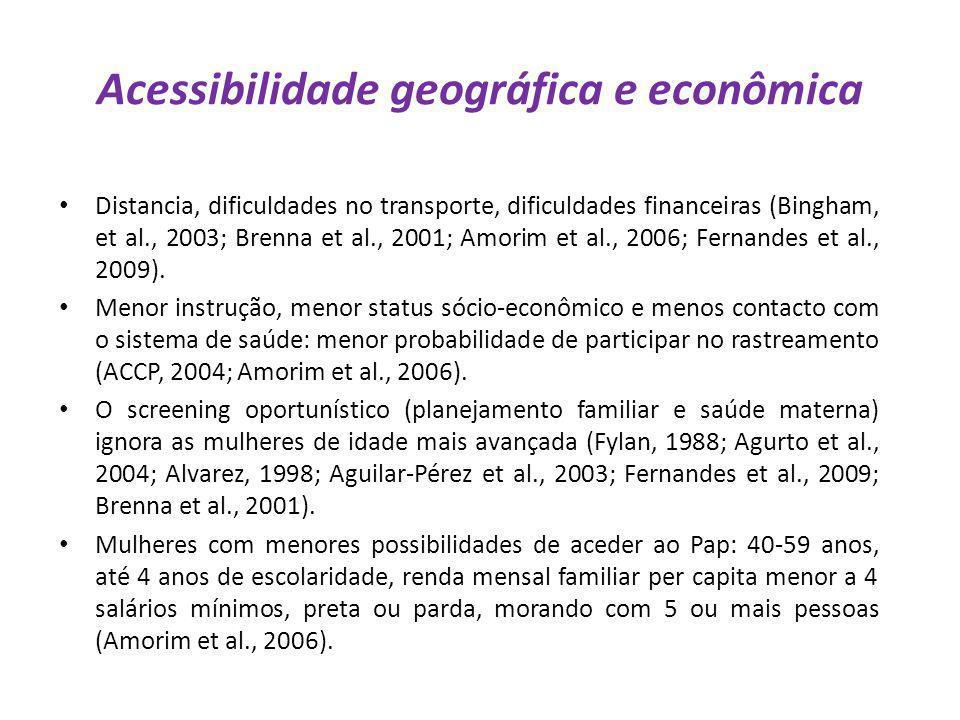 Acessibilidade geográfica e econômica