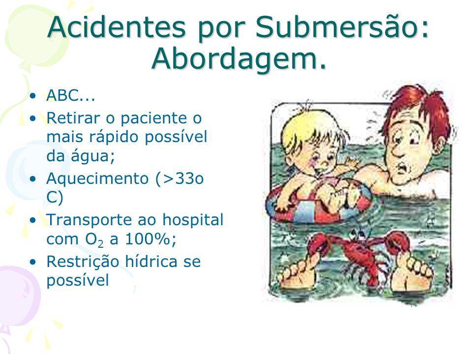 Acidentes por Submersão: Abordagem.