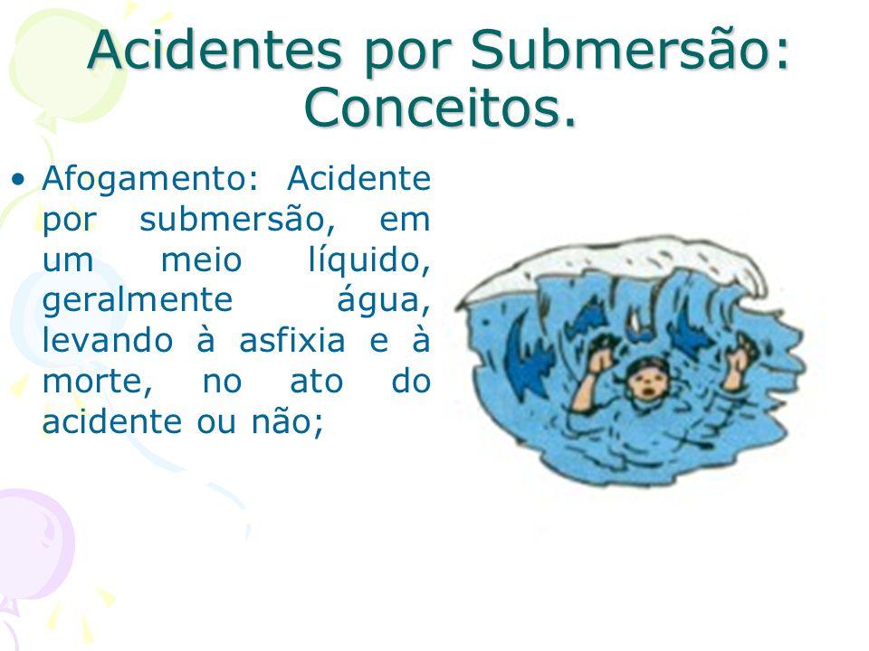 Acidentes por Submersão: Conceitos.