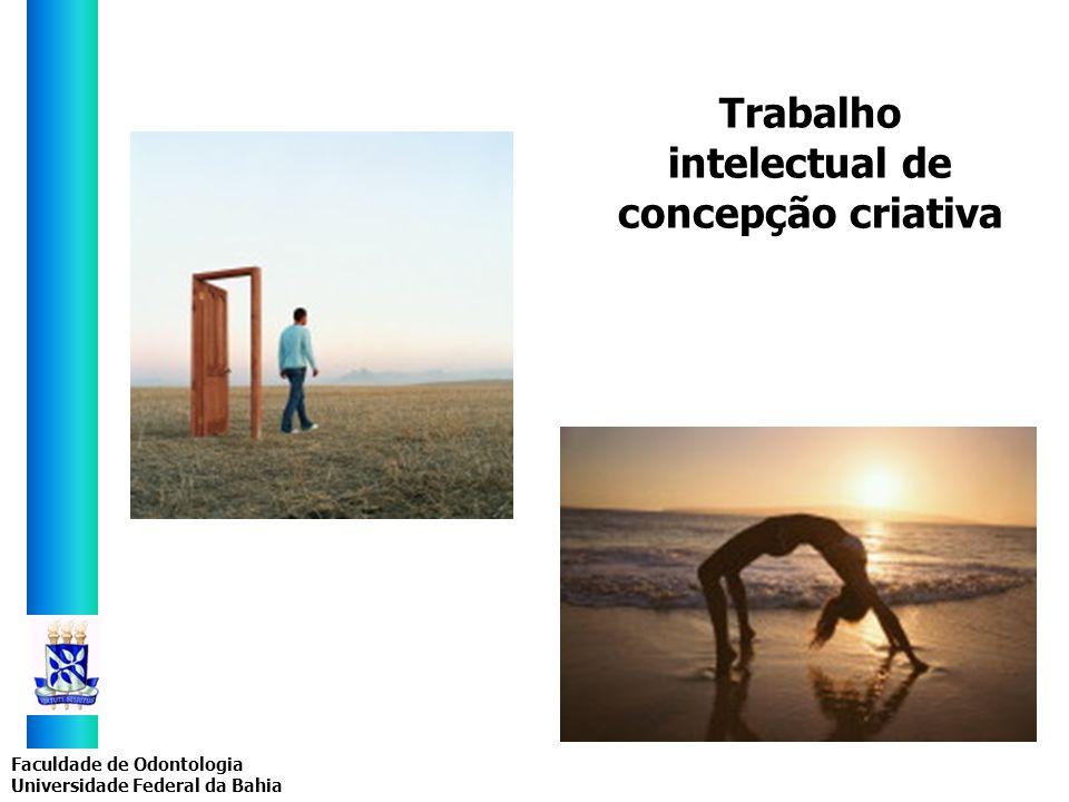 Trabalho intelectual de concepção criativa