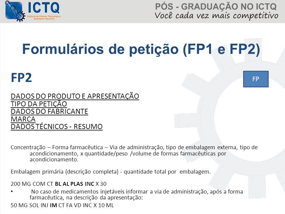 Formulários de petição (FP1 e FP2)