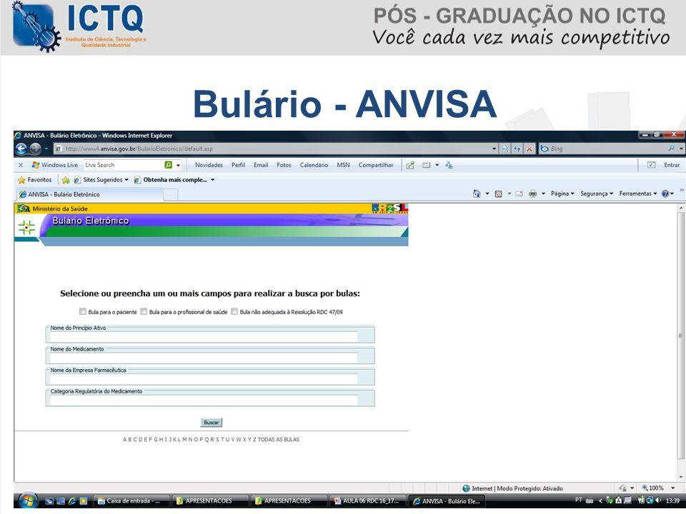 Bulário - ANVISA