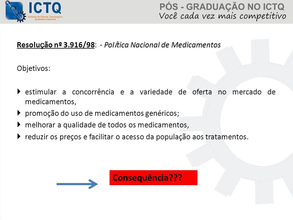 Resolução nº 3.916/98: - Política Nacional de Medicamentos