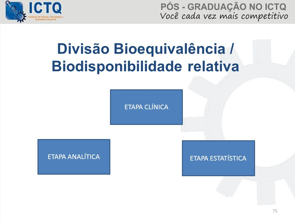 Divisão Bioequivalência / Biodisponibilidade relativa