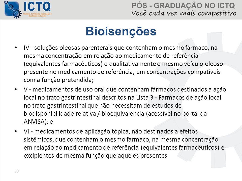 Bioisenções