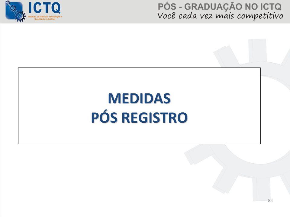 MEDIDAS PÓS REGISTRO