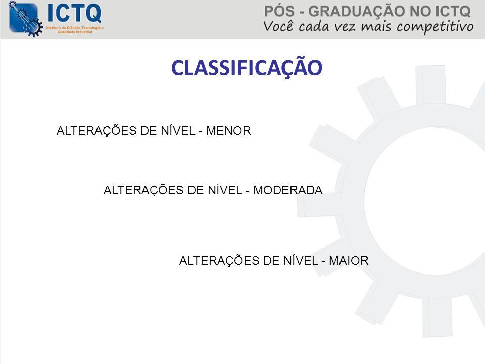CLASSIFICAÇÃO ALTERAÇÕES DE NÍVEL - MENOR