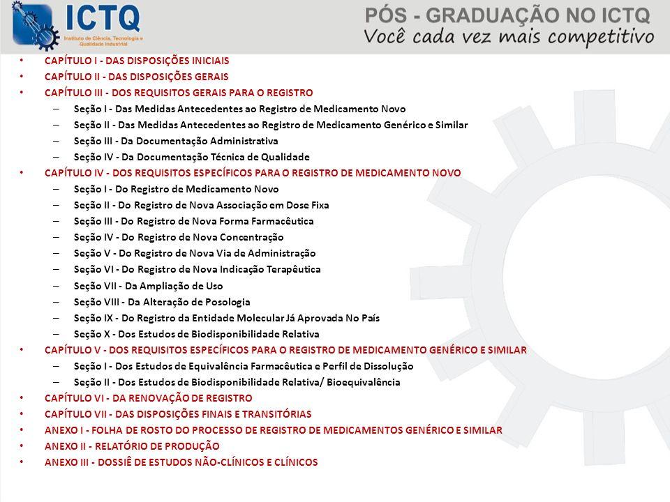 CAPÍTULO I - DAS DISPOSIÇÕES INICIAIS