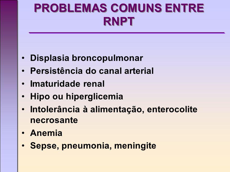 PROBLEMAS COMUNS ENTRE RNPT