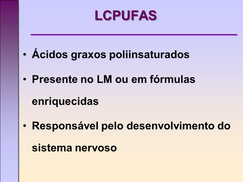 LCPUFAS Ácidos graxos poliinsaturados