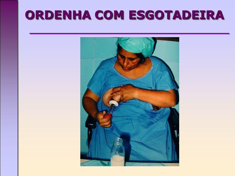 ORDENHA COM ESGOTADEIRA