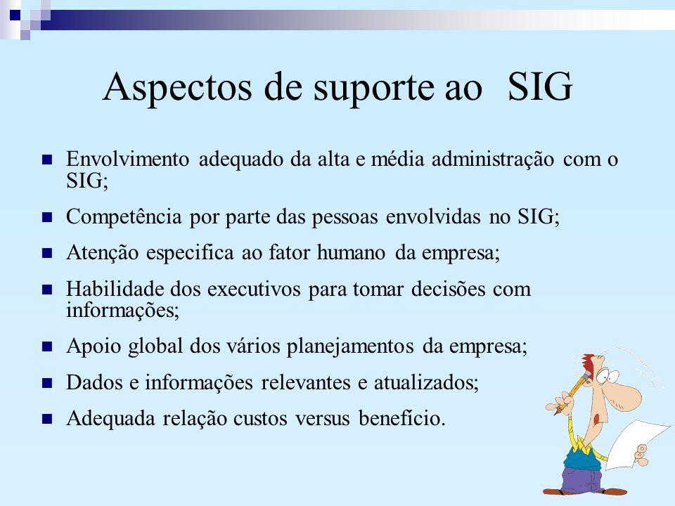 Aspectos de suporte ao SIG