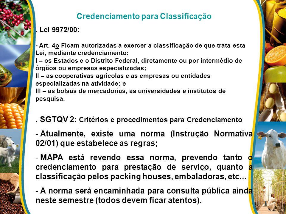 Credenciamento para Classificação
