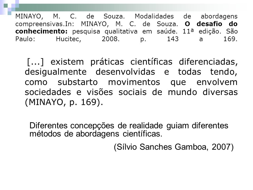 (Sílvio Sanches Gamboa, 2007)