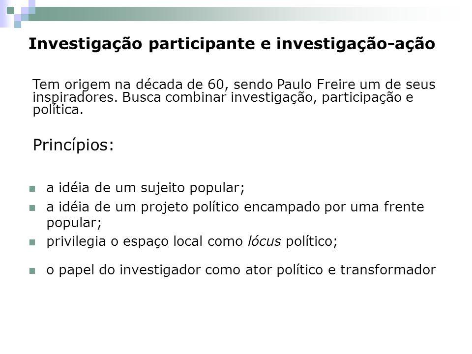 Investigação participante e investigação-ação