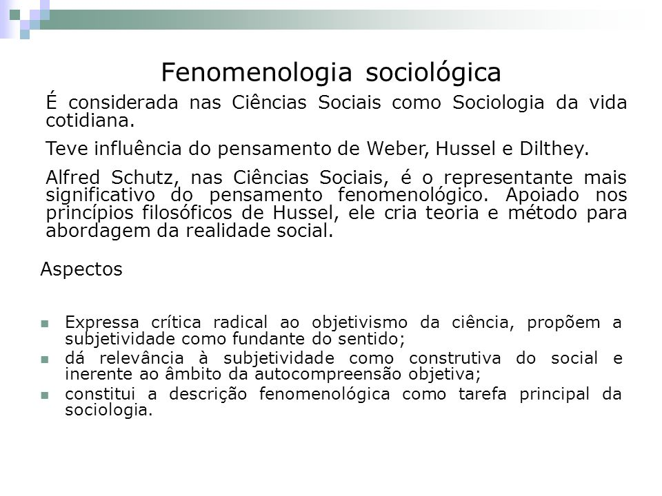 Fenomenologia sociológica