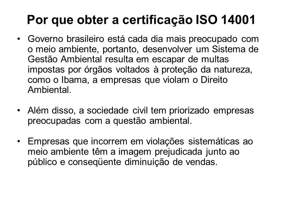 Por que obter a certificação ISO 14001