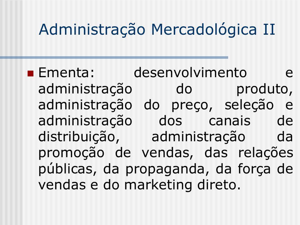 Administração Mercadológica II