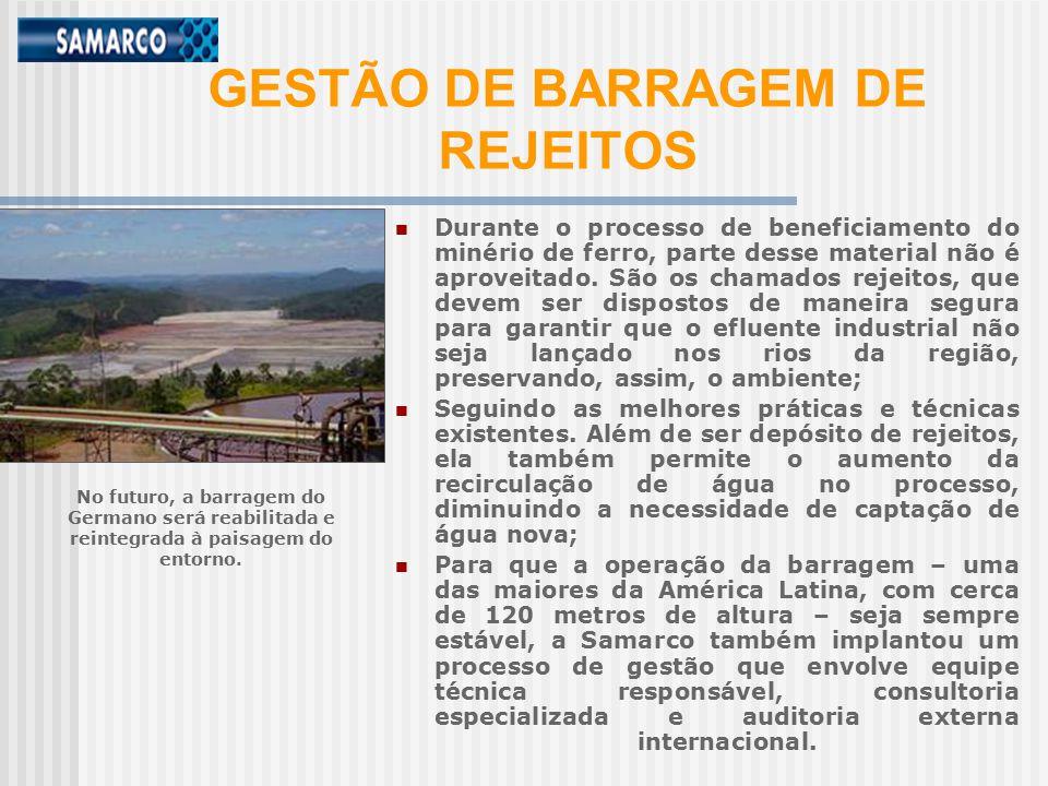 GESTÃO DE BARRAGEM DE REJEITOS