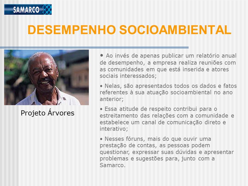 DESEMPENHO SOCIOAMBIENTAL
