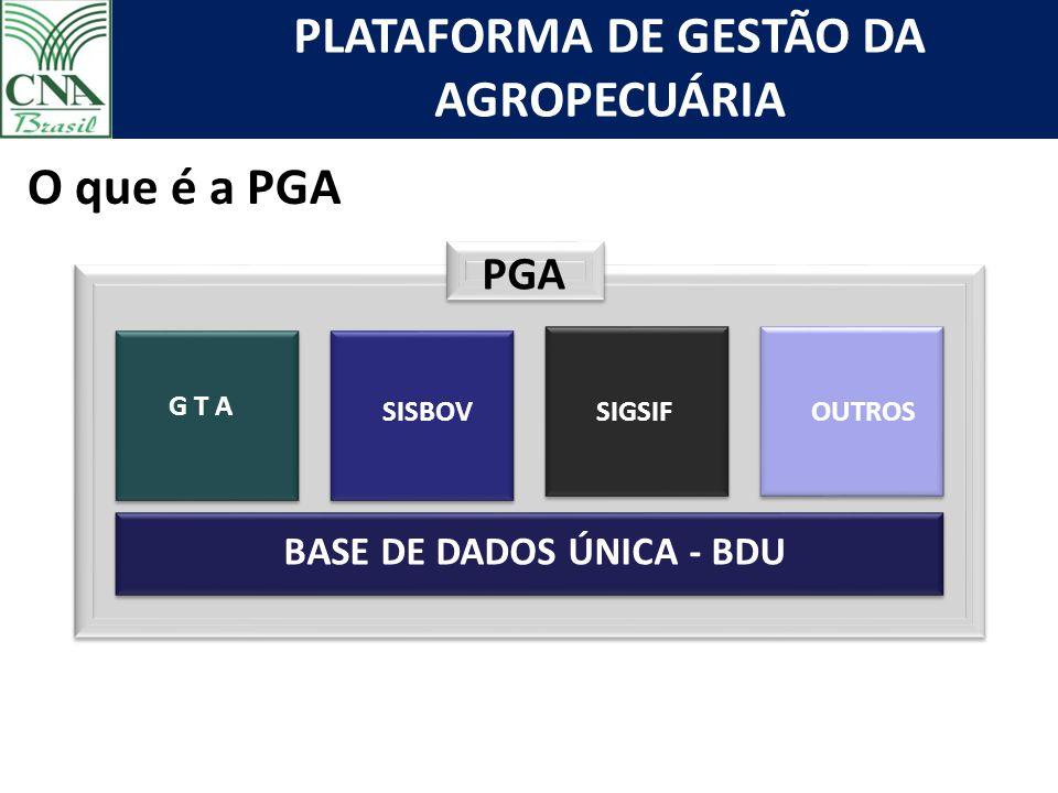 O que é a PGA PGA BASE DE DADOS ÚNICA - BDU SIF G T A SISBOV SIGSIF