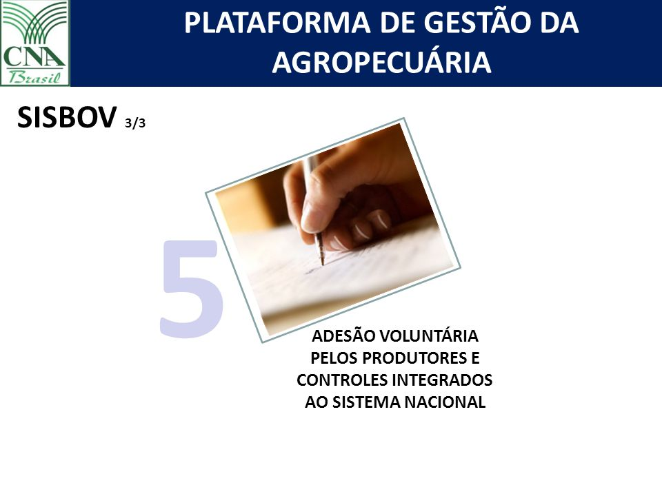 SISBOV 3/3 5 ADESÃO VOLUNTÁRIA PELOS PRODUTORES E CONTROLES INTEGRADOS AO SISTEMA NACIONAL