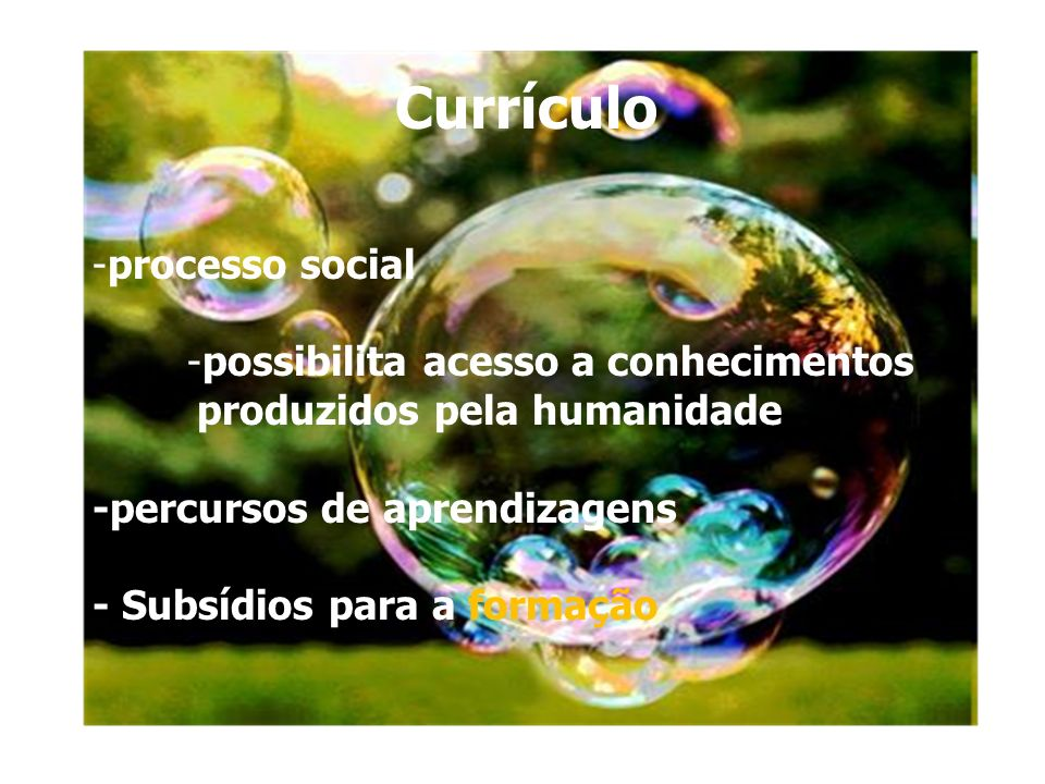 curriculo Currículo processo social