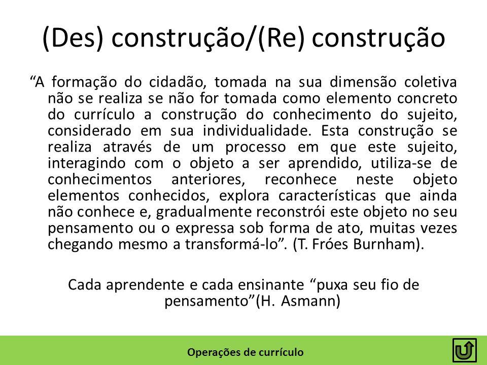 (Des) construção/(Re) construção