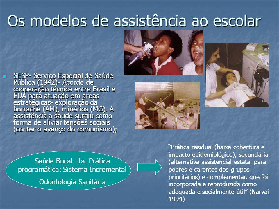 Os modelos de assistência ao escolar
