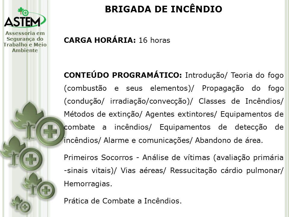 BRIGADA DE INCÊNDIO CARGA HORÁRIA: 16 horas