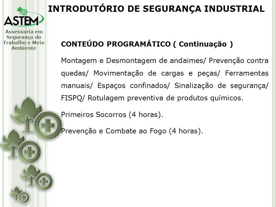 INTRODUTÓRIO DE SEGURANÇA INDUSTRIAL