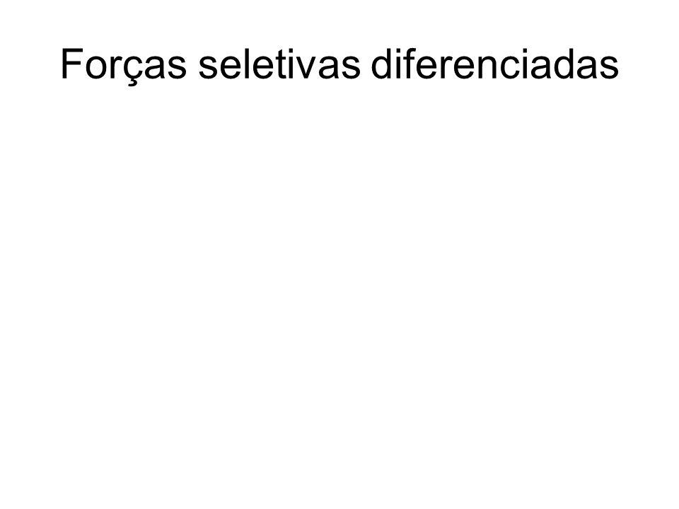 Forças seletivas diferenciadas