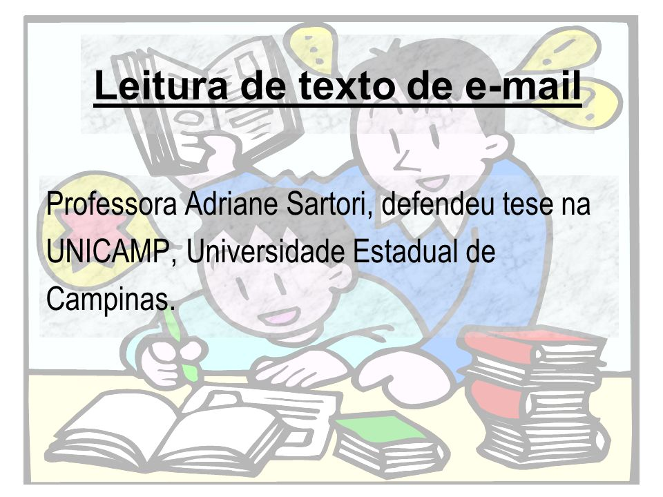 Leitura de texto de e-mail