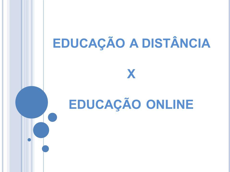 EDUCAÇÃO A DISTÂNCIA X EDUCAÇÃO ONLINE