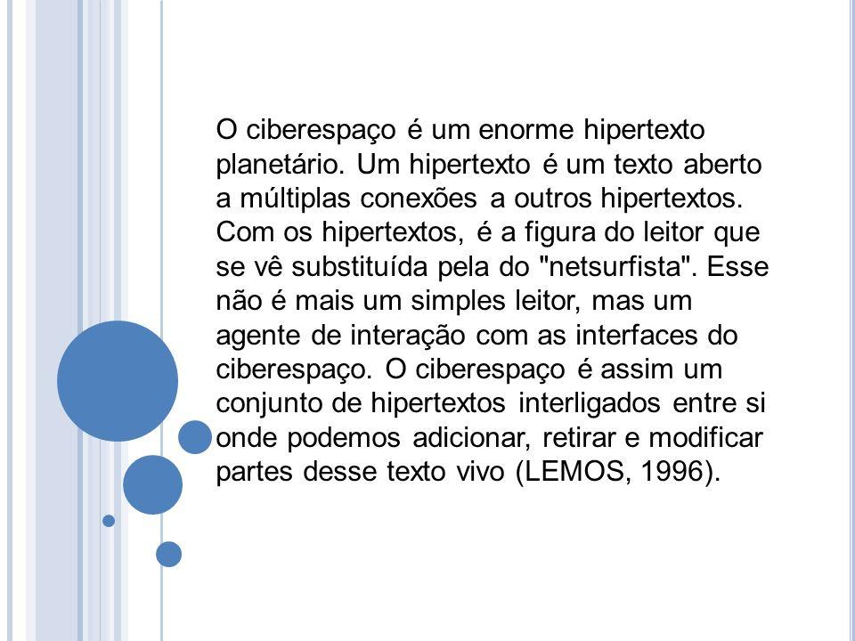 O ciberespaço é um enorme hipertexto planetário