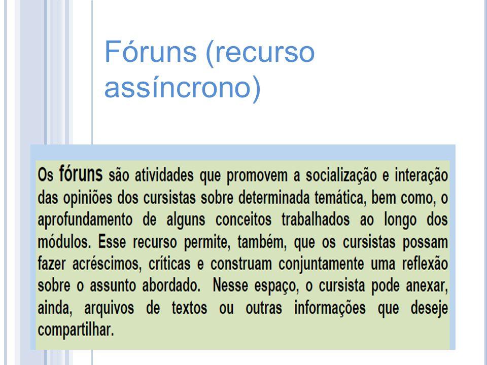 Fóruns (recurso assíncrono)