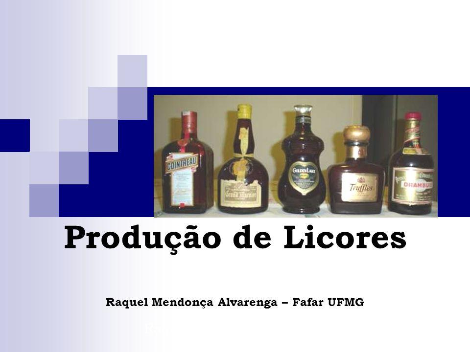 Produção de Licores Raquel Mendonça Alvarenga – Fafar UFMG