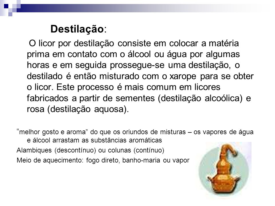 Destilação: