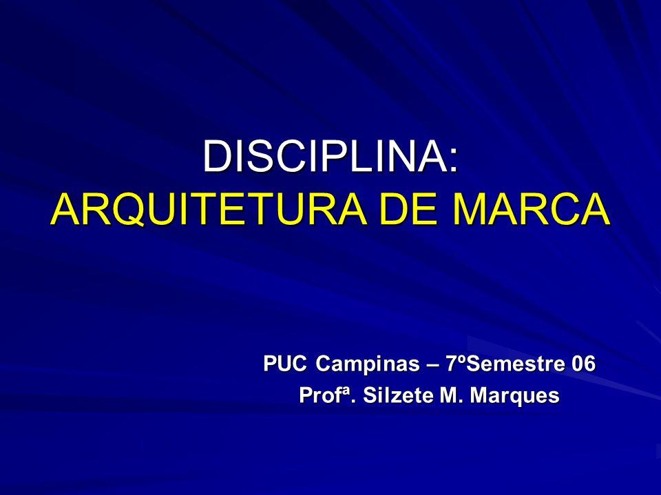 DISCIPLINA: ARQUITETURA DE MARCA
