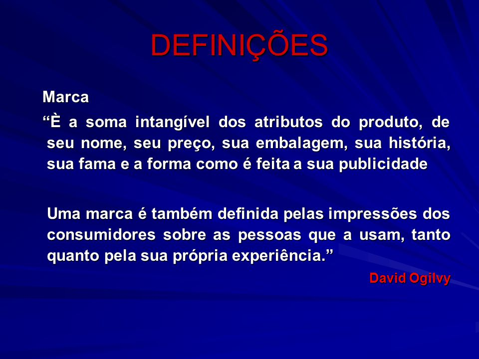 DEFINIÇÕES Marca.