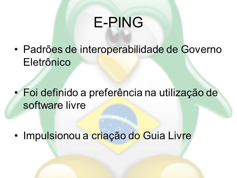 E-PING Padrões de interoperabilidade de Governo Eletrônico