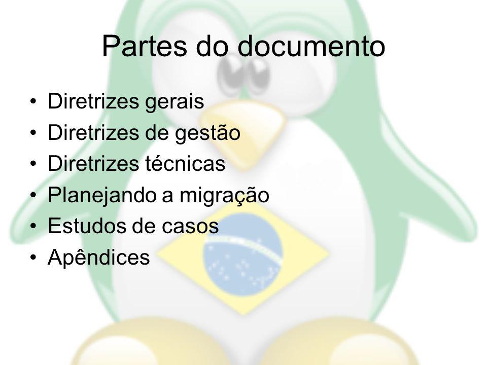 Partes do documento Diretrizes gerais Diretrizes de gestão